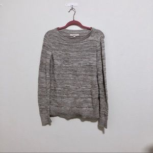 Ann Taylor loft grey knit sweater